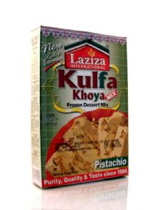 Laziza Kulfi Mix (Kulfa Khoya Frozen Dessert Mix) | Buy Online at the Asian Cookshop